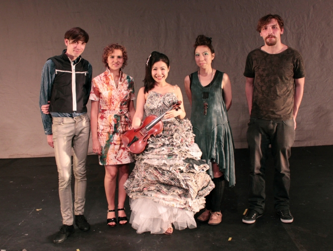 Analema Group: from left to right Oliver Gingrich, Evgenia Emets, Satoko Fukuda, Kumiko Tani, Joe Pochciol